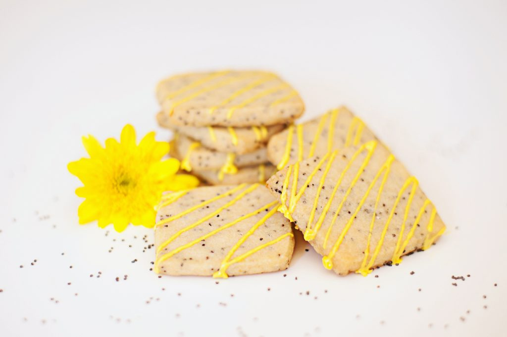 vegan lemon poppyseed cookies